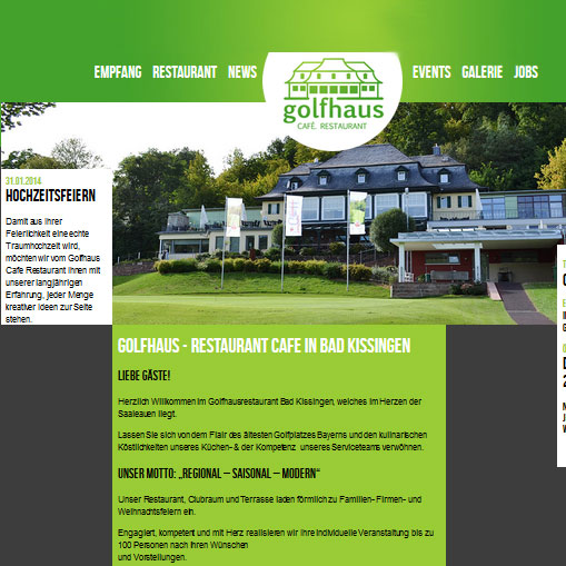 golfhaus CAFÉ RESTAURANT in Bad Kissingen